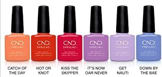 <b>CND Shellac</b> Gel Polish Nauti Nautical <b>Summer</b> 2020 Collection 6 x ...