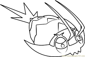 Small Picture Wimpod Pokemon Sun and Moon Coloring Page Free Pokmon Sun and