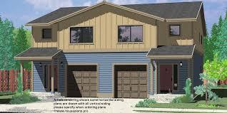 House Plans  DuPlex  TriPlex  Custom Building Design FirmD  Duplex house plans  Seattle house plans  Duplex plans   garage