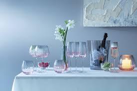 <b>Набор из 2 круглых</b> бокалов Dusk 650 мл розовый-серый от LSA ...