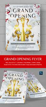 grand opening flyer psd ai vector eps format premium grand opening flyer template