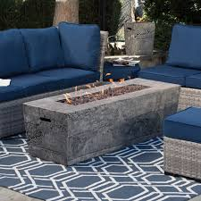 garden furniture patio uamp: great red ember glacier stone in gas fire pit table with free cover with