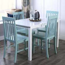 <b>5</b>-<b>Piece Modern</b> Farmhouse <b>Dining</b> Rooom Set - White/Sage