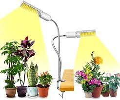 Likesuns LED Grow Light for Indoor Plants, <b>100 LED</b> 2-<b>Head</b> 50W ...