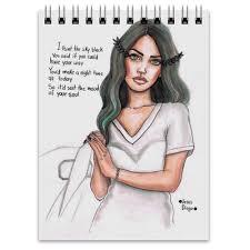Блокнот <b>Lana Del</b> Rey #1865170 от flipside