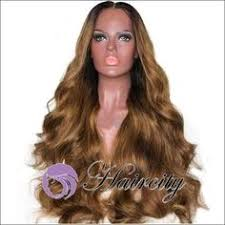 <b>Yiyaobess 24inch Black Brown</b> Ombre Long Wavy Wig Female ...