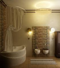 funky bathroom lights:   extraordinary brown bathroom with bathroom accessories ideas