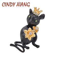 2019 <b>CINDY XIANG</b> Cute <b>Wearing Crown</b> Small Mouse Brooches ...