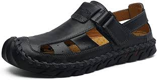 Cloudy Clouds Men Soft Sandals Summer Leather ... - Amazon.com
