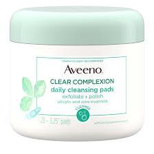 Aveeno <b>Cleansing</b> Salicylic Acid <b>Facial Pads</b> Oily Skin, 28 Count ...
