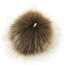 Arts, Crafts & <b>Sewing</b> Beige DIY <b>12pcs</b> Faux Fox Fur Fluffy Pompom ...