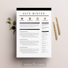 resume template page pack cv template cover letter for resume template 4 pages cv template cover letter for ms word instant digital the parisian
