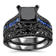 Shop 14k <b>Black Gold</b> 4 <b>1</b>/4ct TDW Certified Black Diamond and Blue ...