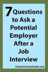 job interview questions to ask an employer job interview questions to ask employers