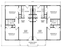 Duplex House Plans and Duplex Home Plans for Multi Family Living    ORDER this house plan  Click on Picture for Complete Info