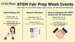 sept and how to navigate the stem career fair for sept 21 and 22 how to navigate the stem career fair for introverts stem fair prep