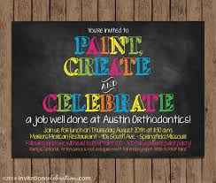 customize your invitation invitationcelebration com a recent customer asked us to customize wording for their staff at austin orthodontics who were surprising their staff a fun painting party