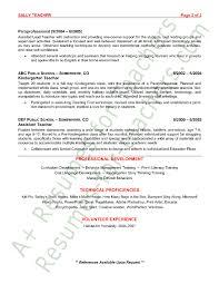 sample preschool teacher resume - Template - Template sample preschool teacher
