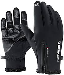 Jeniulet Mens <b>Winter Warm</b> Gloves <b>Waterproof</b> and All Finger <b>Touch</b> ...