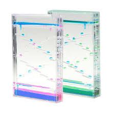 2 Pcs <b>Double Color</b> Liquid Dropper Timer Mix Illusion <b>Oil Hourglass</b> ...