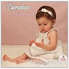 bandeau noeud bebe fille accessoire pour cheveux bapteme mariage ceremonie jpg