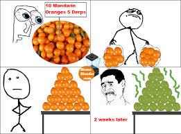 Rage Comics - Holiday Aftermath / Mandarin Oranges via Relatably.com