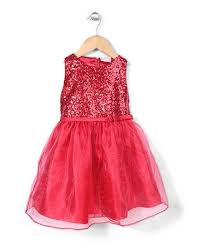 Buy Little Coogie <b>Sequin Party Dress Red</b> for Girls (6-7Years ...