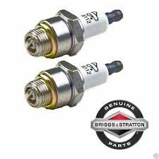 2 Pack <b>Genuine Briggs</b> & Stratton 796112 Spark Plug Fits Champion ...