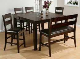 Set Of 4 Dining Room Chairs Dark Dark Brown Wooden Finish Furniture Black Leather Seat Dining