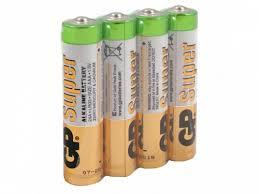 Каталог <b>Батарея GP</b> Super Alkaline <b>24A LR03</b>, <b>4</b> шт. AAA от ...