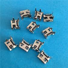 <b>10PCS</b> YT2011Y <b>Micro USB</b> 5P 4 feet 5 Pin USB socket plug board ...