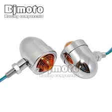 <b>1 pair Motorcycle Chrome</b> Bullet Turn Signals indicator Light For ...
