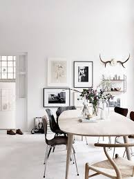 scandinavian apartment black and white home eames mid century modern boho chic chic white home