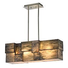 Linear Dining Room Lighting Shop Westmore Lighting Tectonicus 27 In 4 Light Brushed Nickel