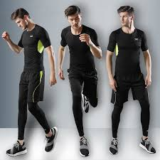 5-piece Set Men's Fitness Wear Tights <b>Morning Running Quick</b> ...