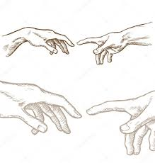 <b>Creation of Adam hand</b> draw — Stock Vector © Doom.ko #61690809