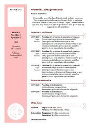 formato de resumes template formato de resumes