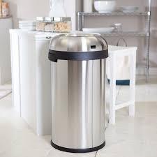 gallon stainless steel kitchen trash