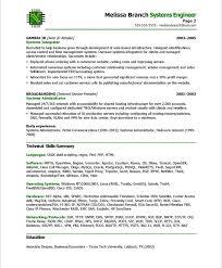 old version old version old version system engineer resume sample