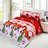 JARSON <b>4Pcs Merry Christmas</b> Bedding Set - Buy Online in ...