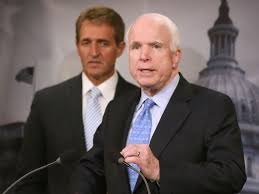 Image result for senators mccain and flake