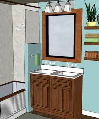 bathroom small bathrooms decoration impressive double sink above wood ample storage with elegant mongstad mirror ample shower room