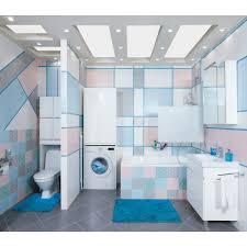 <b>Коврик для ванной комнаты</b> «Twist» 60х90 см цвет синий в ...