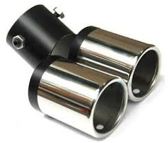 <b>Auto Car</b> Stainless Steel <b>Twin Dual</b> outlet Exhaust Tip Tail pipe Tip ...