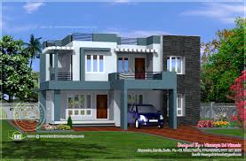 Simple contemporary style villa plan   Kerala home design and    Simple contemporary villa  Facilities in this house