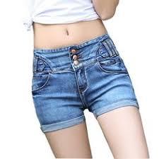 2018 Brand Vintage ripped <b>hole fringe</b> blue denim shorts women ...