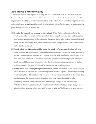 how to write a reflective analysis essay how to write a reflective how to write a good reflective essay how to write a medical reflective essay how to