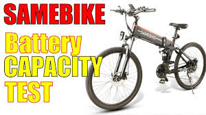 <b>Samebike Battery</b> Capacity Test. 500W 10Ah LO26 - YouTube