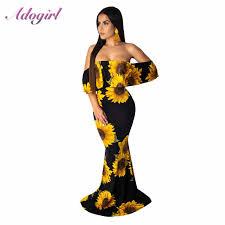 Women Plus Size <b>S 5XL Floral Print</b> Hobo Beach Long Dress ...