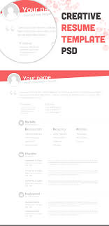 creative resume template psd bie no 67 237042 on wookmark creative resume template psd bie no 67